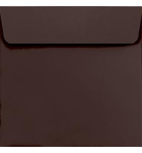 Lot de 25 enveloppes chocolat carrées