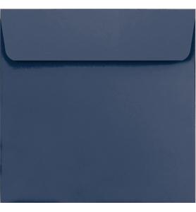 Lot de 25 enveloppes bleu marine carrées
