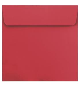 Lot de 25 enveloppes rouges carrées